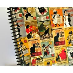 The Black Cat, Vintage Posters, Back to School, Pocket Notebook,... ❤ liked on Polyvore featuring home, home decor and stationery