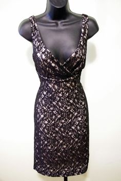 "Size 6 NWOT White House Black Market Black Lace Dress ""Fabulous Find"" #WhiteHouseBlackMarket #LittleBlackDress"