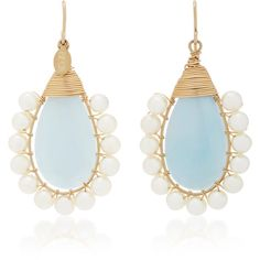 Beck Jewels Aqua Lolita Gold-Filled Aquamarine and Pearl Earrings ($310) ❤ liked on Polyvore featuring jewelry, earrings, blue, pearl jewelry, aquamarine earrings, gold filled jewellery, blue jewellery and blue earrings