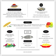 If you are a major foodie, these menu cards are for you. Illustrated by Erin Jang, these customized menu cards are the perfect way to whet your guests' palate. #menu