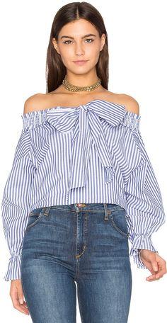 J.o.a. Off The Shoulder Stripe Top on ShopStyle