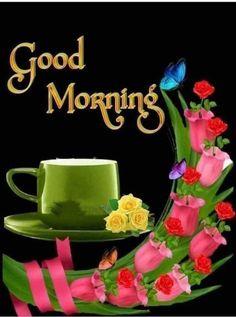 Good Morning Love Gif, Good Morning Flowers Pictures, Good Morning Friends Quotes, Good Morning Roses, Good Morning Messages, Good Morning Greetings, Good Morning Images, Flower Pictures, Morning Quotes