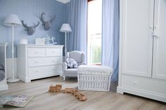 Boy room with a twist of delicate blue. From French collection Caramella.pl. Create with us a special room for your child.