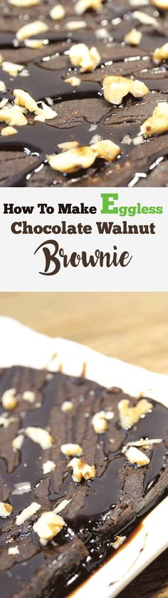 Learn How to Make Eggless Chocolate Walnut Brownie at Home in Just 17 Minutes! Yes, You can try it by watching the chocolate brownie recipe aswell. @thevegfood