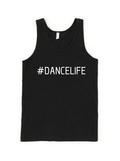 Available in Black or White. dancelove is a clothing line created to share your love of dance everyday. Tank Man, Youth, Dance, Tank Tops, Cotton, Clothes, Black, Women, Fashion
