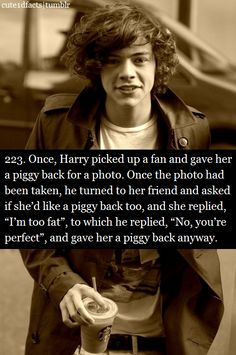 Aww I didn't know this>>>> <3<3<3 That is why we love him, he is genuine and will go out of his way to be... Nice <3<3<3xx