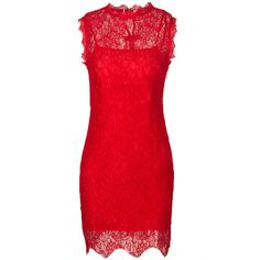 Choies Red Sleeveless Back Bowknot Embellished Bodycon Lace Dress (140 VEF) ❤ liked on Polyvore featuring dresses, red, embellished cocktail dress, sleeveless dress, body con dress, red lace cocktail dress and embellished dresses