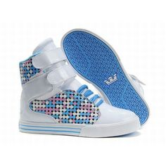 supra society women high tops white blue leather