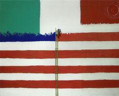 "Francesco De Molfetta  ""Change flag""  very ironic young artist working in Milan"