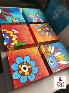 Acrilic Paintings, Cute Canvas Paintings, Mini Canvas Art, Easy Paintings, Acrylic Painting Canvas, Diy Painting, Easy Drawings For Kids, Art For Kids, Buddha Canvas