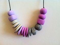 Handmade polymer clay beads by SiennaandKip on Etsy, $20.00