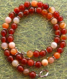 Carnelian necklace by Snowymountaindesigns on Etsy, $38.00