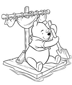 76 Best Hobby colouring pages Winnie the Pooh & friends