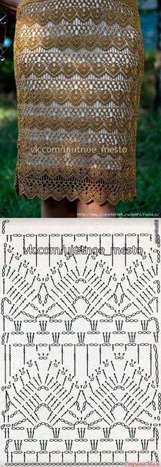Fabulous Crochet a Little Black Crochet Dress Ideas. Georgeous Crochet a Little Black Crochet Dress Ideas. Crochet Diagram, Crochet Chart, Crochet Motif, Irish Crochet, Gilet Crochet, Crochet Blouse, Crochet Skirts, Crochet Clothes, Crochet Stitches Patterns