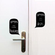 Open Door Sign Stickers - Open up your door and explore the world !