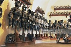 Stock Photo : Exhibition of ancient armor, Armory of Churburg castle, Schluderns, Venosta valley, Trentino-Alto Adige, Italy