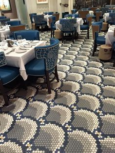 Keystone hexagon tile Daltile floor pattern