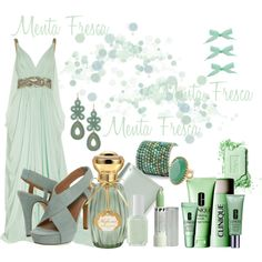 Menta Fresca, created by najla2 on Polyvore featuring the Stella & Dot - Capri Chandelier Earrings in Turquoise