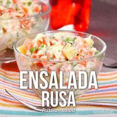 Ensalada Rusa Fácil - Pen Tutorial and Ideas Mexican Food Recipes, Vegetarian Recipes, Dinner Recipes, Cooking Recipes, Healthy Recipes, Cooking Eggs, Cooking Spoon, Cooking Rice, Smoker Recipes
