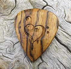 Wood Guitar Pick  Premium Quality  Handmade With Mexican