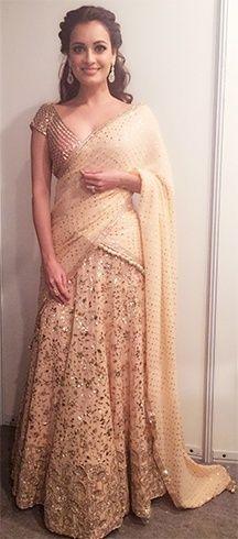 Dia Mirza in Manish Malhotra Outfits