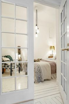 Love the French doors for a bedroom