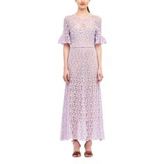 --evaChic--This Rebecca Taylor Eliza Lace Midi Dress is the ideal wedding guest outfit for the Spring/Summer 2017 season. Ruffles and lace are on-trend and the whole style is referencing retro silhouettes . The lining is neutral for an illusion of more exposure. Sheer panels are accented with ladder stitching. It's surely a timeless occasion dress.      https://www.evachic.com/product/rebecca-taylor-eliza-lace-midi-dress/