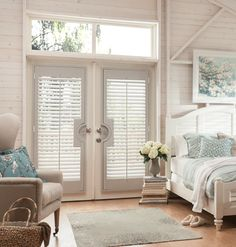@baliblinds Wood Shutters or Wood Vertical Blinds for French doors. What would you choose?