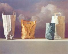 Supermarket Ghost by Claudio Bravo Claudio Bravo, Abstract Words, Cardboard Art, Realistic Paintings, Still Life Art, Still Life Photography, Artist Painting, Art World, Rose