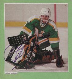ROLAND MELANSON Hockey Goalie, Hockey Games, Hockey Players, Minnesota North Stars, Minnesota Wild, Wild North, Goalie Mask, Good Ol, Nhl