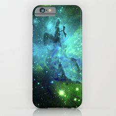 Blue Green Floral Space Explosion iPhone and iPod cases