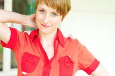 Red Retro Short Sleeved Womens Shirt Cotton Small by PalePixie, $40.00