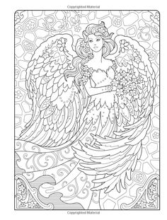 Creative Haven Coloring Books for Adults Fresh Wel E to Dover Publications Ch Beautiful Angels Angel Coloring Pages, Cool Coloring Pages, Disney Coloring Pages, Colouring Pages For Adults, Publicaciones Dover, Creative Haven Coloring Books, Free Adult Coloring, Diy Y Manualidades, Mandala Coloring