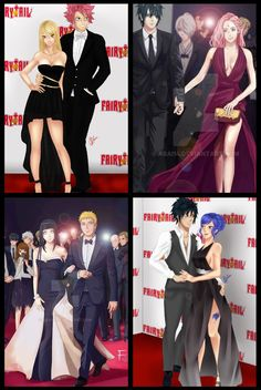 top favorite Fairy Tail & Naruto Ships (collage made by me/Prometheus) ^^ - Naruto art is by - Fairy Tail art is by HaineXKamiya Fairy Tail Comics, Fairy Tail Art, Fairy Tail Love, Fairy Tail Ships, Fairy Tail Anime, Naruto Sasuke Sakura, Naruto Cute, Naruto Shippuden Anime, Naruto Eyes