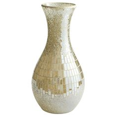 Champagne Luster Mosaic Vase