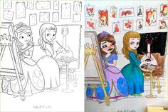 Guest Post: The Painter.  Very creatively colored by TittyScribble. Remember to share your own here! http://coloringbookcorruptions.com