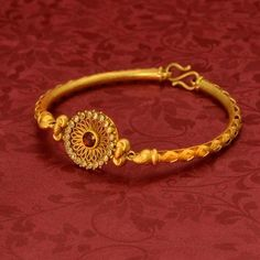 New stylish bracelet designs - Indian Fashion Ideas Gold Jewelry Simple, Gold Rings Jewelry, Gold Jewellery, Gold Bangles, India Jewelry, Ruby Bangles, Baby Jewelry, Coral Jewelry, Temple Jewellery