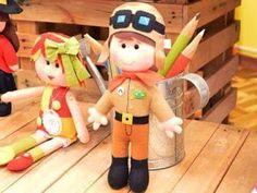Feltro Fácil: Boneco aviador em feltro com molde
