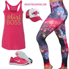 Workout outfit of the day! How can you not rock your workout when you're wearing this?? I mean, you'll definitely burn some extra calories in this outfit, right?  http://www.moxiefitnessapparel.com/