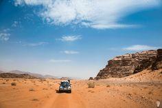 Jeep safari Wadi Rum desert Jordan