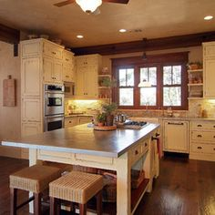 Oak Trim With White Cabinets In The Kitchen Cleaning Organizing