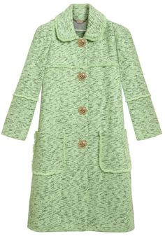 Kate wore Mulberry's Frayed Coat in mint cotton tweed for the annual Scouting Parade at Windsor Castle - 04-21-13