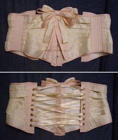 Silk Ribbon Corset - Flat by sidneyeileen.deviantart.com on @deviantART