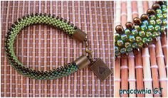 bransoletka gąsieniczka/ crochet beaded caterpillar bracelet