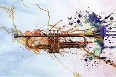 Trumpet Canvas Prints and Trumpet Canvas Art for Sale Jazz Trumpet, Canvas Art For Sale, Jazz Art, Love N Hip Hop, Music Tattoos, Weird Creatures, Canvas Prints, Art Prints, Wire Art
