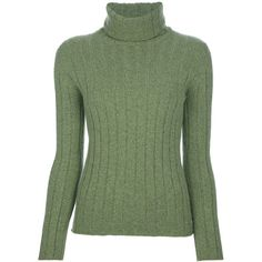 Chanel Vintage Funnel Neck Sweater (1.570 BRL) ❤ liked on Polyvore featuring tops, sweaters, shirts, chanel, green, holiday sweaters, long sleeve sweater, vintage cashmere sweater, green long sleeve shirt and chanel sweater