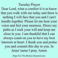 Tuesday Prayer!