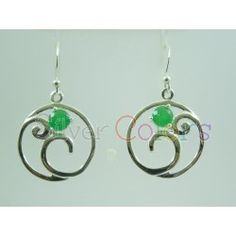 925 Sterling Silver Earring Studded With Genuine Green Onyx $ 10.26 buy Now index.php/earrings/green-onyx-earring-3044.html
