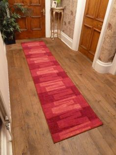 via veneto red hallway carpet runner