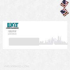 real estate envelopes, realtor envelopes, realtor window envelopes, envelopes, EXIT real estate envelopes